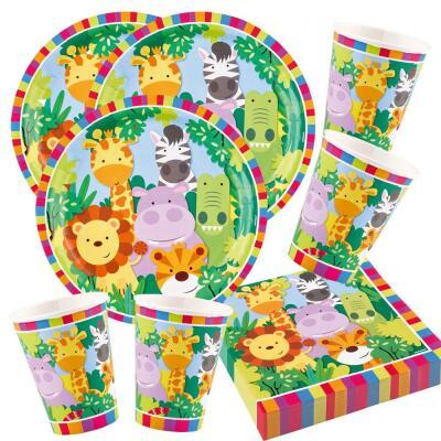 Safari dschungel for Kinder party set