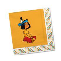 Indianer Yakari Party - Servietten, 20 Stück 33 x 33 cm