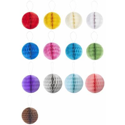 3D Wabenball  aus Papier 8 cm (4 Stück) oder 15 cm (2 Stück) Honeycomb - Auswahl