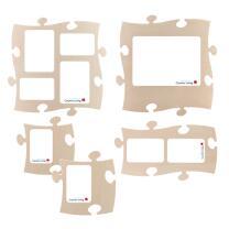 5 PUZZLES+ Rahmen * Set * Puzzle Bilderrahmen  * Country...