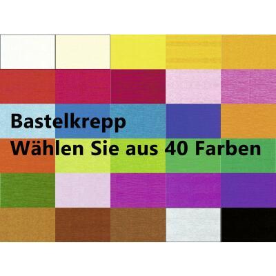 Ursus Bastelkrepp 250 x 50 cm gerollt, Krepp-Papier * Auswahl
