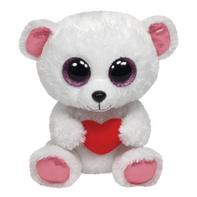 Ty Beanie Boos Polarbär - Sweetly mit Herz 15 cm