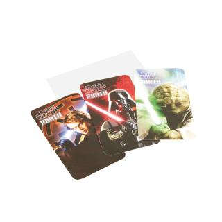 Star Wars Einladungskarten, 6 Stück