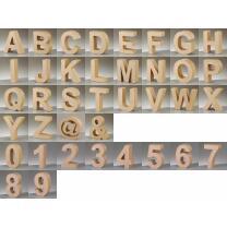 PappArt Buchstaben Zahlen, & und @ aus Pappe  17,5 cm...