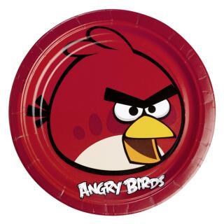 Angry Birds Teller, 8 Stück