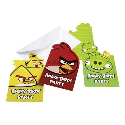 Angry Birds Einladungskarten, 6 Stück