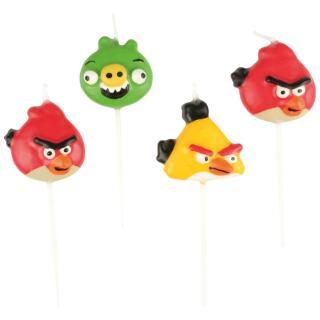 Angry Birds Mini-Figurenkerzen, 4 Stück