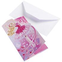 Barbie Pink Shoes Einladungskarten, 6 Stück