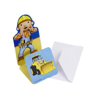 Bob der Baumeister Einladungskarten, 6 Stück