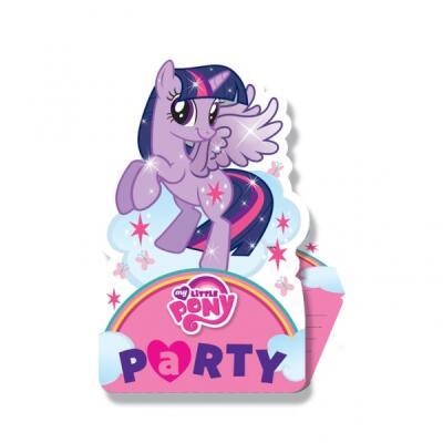 My little Pony Einladungskarten, 6 Stück