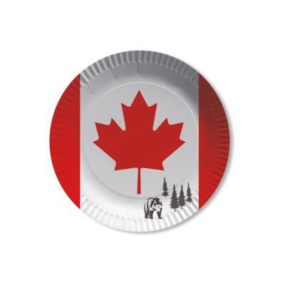 Kanada - Teller - Pappteller 10 Stück, 23 cm