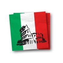 Italien - Servietten,  20 Stück 33 x 33 cm