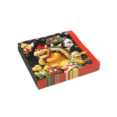 Super Mario Servietten, 20 Stück, 33 x 33 cm