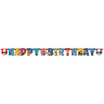 Super Mario Partykette Happy Birthday 190 x 18 cm