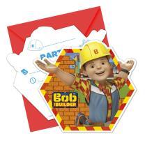 Bob der Baumeister - Einladungen mit Umschlag, 8 Stück