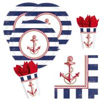 32-teiliges Party-Set maritim Anker auf! Anchors Aweigh -...