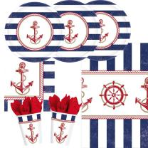 33-teiliges Party-Set maritim Anker auf! Anchors Aweigh -...