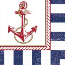 Servietten maritim Anker auf! Anchors Aweigh -  16...