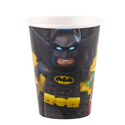 36-teiliges Party-Set Lego Batman - Teller Becher Servietten für 8 Kinder