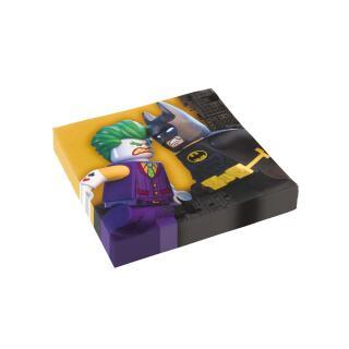36-teiliges Party-Set Lego Batman - Teller Becher Servietten für 8 Kinder