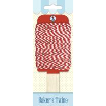 Bakers Twine 15 m Baumwollgarn zweifarbig rot/weiß...