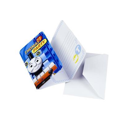 Thomas die Lokomotive Einladungskarten, 6 Stück