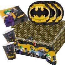 37-teiliges Party-Set Lego Batman - Teller Becher...