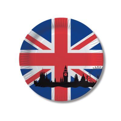 Großbritannien - England - Teller - Pappteller 10 Stück, 23 cm