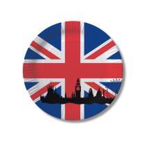 Großbritannien - England - Teller - Pappteller 10...