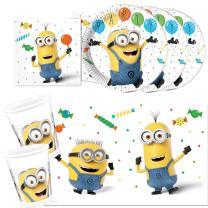 37-teiliges Party-Set Minions Balloons Party  - Teller...