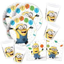 52-teiliges Party-Set Minions Balloons Party  - Teller...