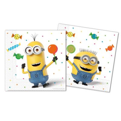 Servietten , 20 Stück -  Minions Balloons Party
