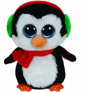 Ty Beanie Boos 41125 Pinguin North mit Schal Weihnachten 15 cm