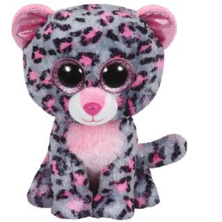 Ty Beanie Boos Tasha - Leopard pink/grau 15 cm