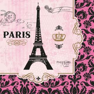 33-teiliges Party-Set Paris - Frankreich - Teller Becher Servietten Tischdecke für 8 Personen
