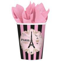 Paris - Frankreich - Becher Pappbecher 8 Stück 226 ml
