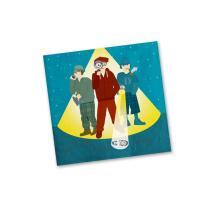 42-teiliges Party-Set - Detektiv - Teller Becher Servietten Platzsets  für 6 - 8 Kinder