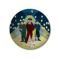 Detektiv Party - Pappteller, 8 Stück  23 cm