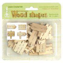 Leane Creatief Wood shapes - Holzformen - Signboards -...