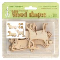Leane Creatief Wood shapes - Holzformen - Dogs - Hunde -...