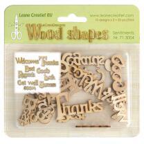Leane Creatief Wood shapes - Holzformen - Sentiments -...