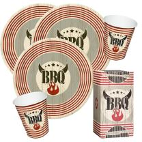 60-teiliges Party-Set Five Star  BBQ - Grillparty -...