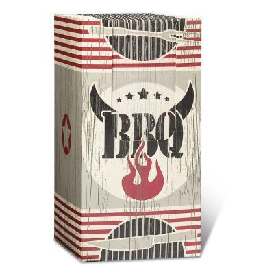 Servietten - Büfettservietten in Spenderbox, 40 Stück 33 x 33 cm Five Star BBQ  für Grillparty