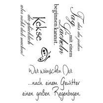 Efco (211) clear stamps Stempel Set - Wir wünschen...