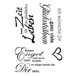 Efco (212) clear stamps Stempel Set - Ich wünsche dir - Zeit für ein glückliches Leben - ganz viele Glückssträhnen