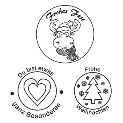 efco 219 clear stamps stempel set frohes fest frohe weihnachten. Black Bedroom Furniture Sets. Home Design Ideas