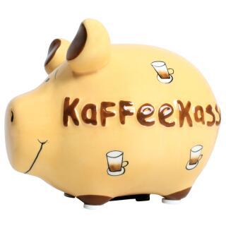 KCG Kleinschwein Keramik Sparschwein - Kaffeekasse -  ca. 12 cm x 9 cm