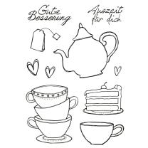 Efco (229) clear stamps Stempel Set - Kaffee - Tee - Gute...