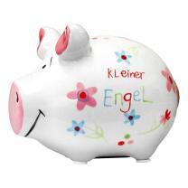KCG Kleinschwein Keramik Sparschwein - Kleiner Engel -...
