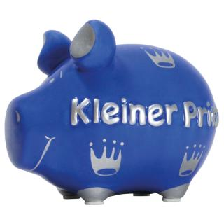 KCG Kleinschwein Keramik Sparschwein - Kleiner Prinz -  ca. 12 cm x 9 cm